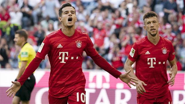 Primer gol de Coutinho con la camiseta del Bayern