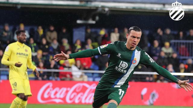 Raúl de Tomás marcó su primer gol en Liga con la camiseta del Espanyol