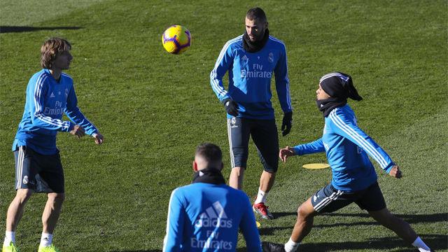 El Real Madrid entrenó por última vez antes de visitar el Benito Villamarín