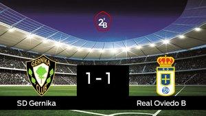 El Real Oviedo B saca un punto al SD Gernika a domicilio 1-1