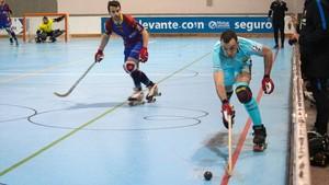 Sergi Panadero firmó el tercer tanto azulgrana en Alcoy