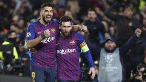 Suárez y Messi sueñan con ganar la Champions en el Wanda Metropolitano
