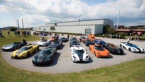 Los coches de Koenigsegg en su planta de Ängelholm.