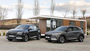Dos unidades del Nexo, el vehículo de hidrógeno de Hyundai.