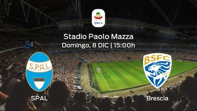 Jornada 15 de la Serie A: previa del duelo SPAL - Brescia Calcio