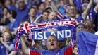 Aficionados de Islandia durante la Eurocopa de Francia