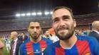 Aleix Vidal grabó la celebración de la final de la Copa del Rey