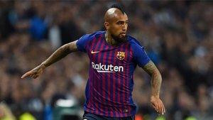 Arturo Vidal, durante un partido