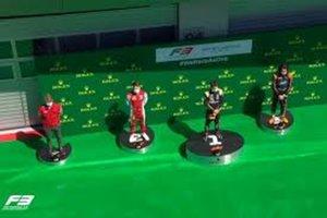 Así ha sido el podio en la F3 de Austria
