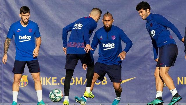El Barça entrenó antes de viajar rumbo a Eibar