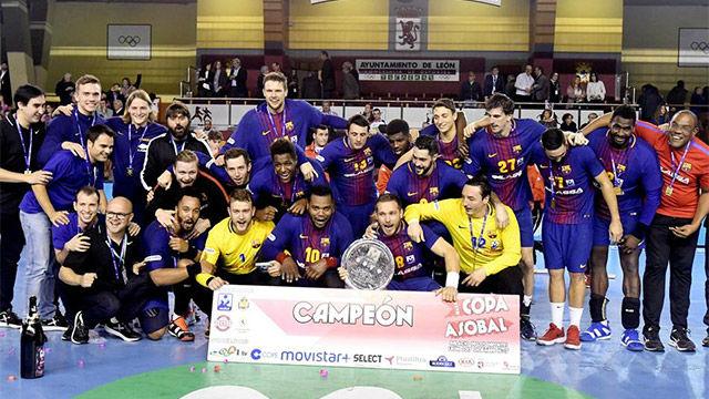 El Barça levantó su 13ª Copa ASOBAL