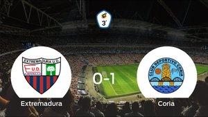 El Coria se impone por la mínima al Extremadura B (0-1)