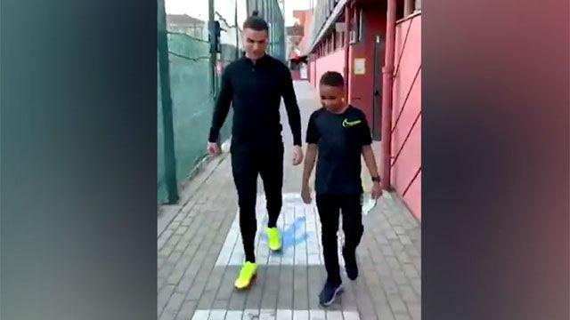 Cristiano Ronaldo se confiesa con un niño: Mbappé es el futuro