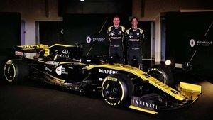 Daniel Ricciardo, junto a Nico Hulkenberg en la presentación del RS19