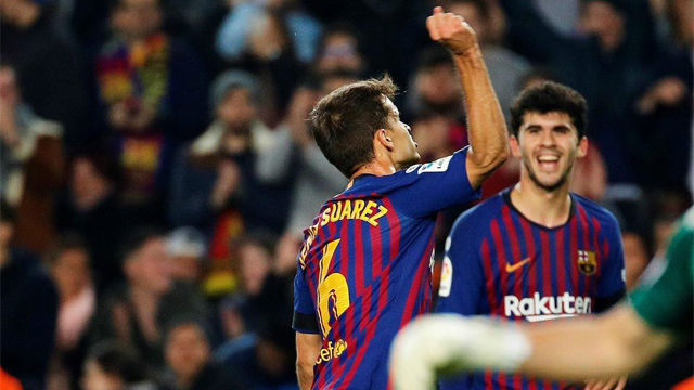 Denis Suárez desató su rabia en su primer gol ante la Cultural