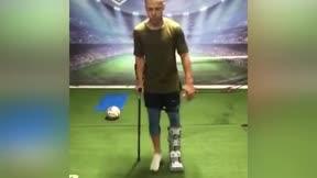 La espectacular recuperación de Ferrao: ¡Entrena hasta en muletas!