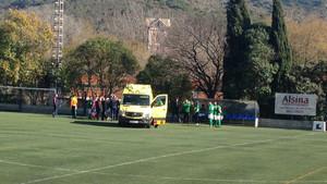 Esta era la ambulancia que evacuó a Quim Ferrer de Can Sant Joan