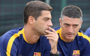 Gerard López y García Pimienta tienen muy claro lo que quieren de este Barça B