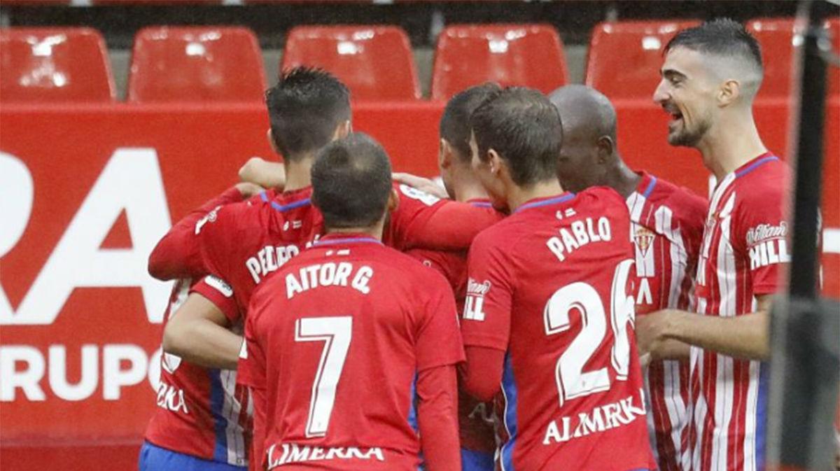 El Girona empieza perdiendo ante el Sporting (2-0)