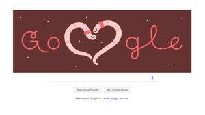 Google nos desea un feliz San Valentín
