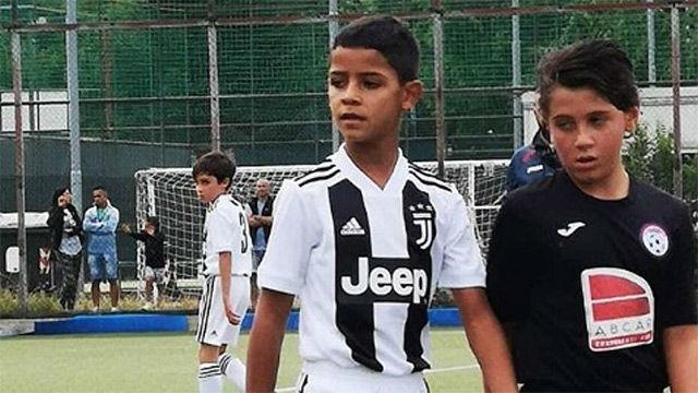 El hijo de Cristiano sí golea con la Juventus