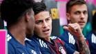 James Rodríguez, en el banquillo del Bayern