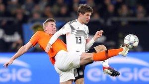 De Ligt, en un lance con la selección holandesa