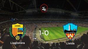 El Llagostera vence 1-0 al Lleida Esportiu en el Camp dEsports Municipal de Llagostera