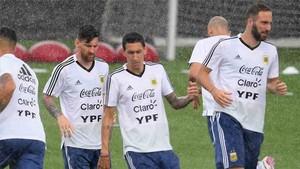 La lluvia impidió que la selección argentina pudiera entrenar