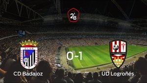 El Logroñés gana lejos de su estadio el primer partido de los cuartos de final de los playoff y consigue una importante ventaja frente al Badajoz (0-1)
