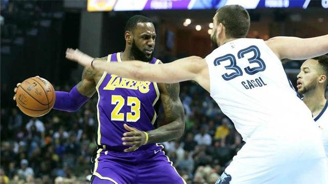 Los Lakers de LeBron, muy superiores a los Grizzlies de Marc Gasol