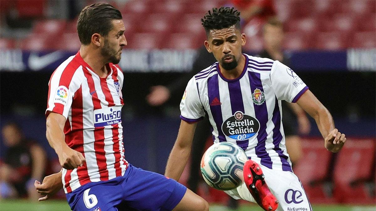 Matheus debutó con el Valladolid y participó en las jugadas de más peligro