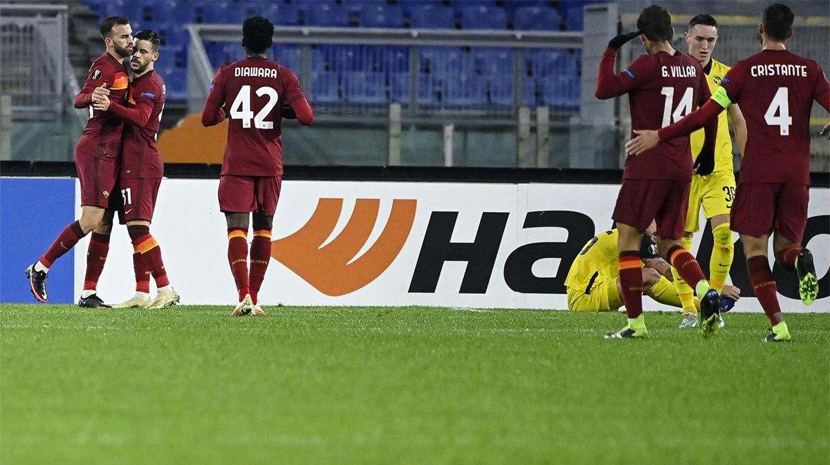 Mayoral comenzó la remontada de la Roma ante el Young Boys