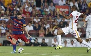 Messi, en la acción del segundo gol
