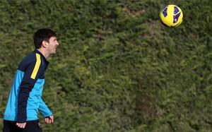 Messi, en un entreno