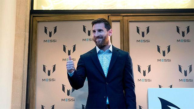 Messi presenta su marca ropa y los aficionados vibran con su aparición