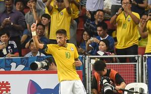 Neymar fue el protagonista indiscutible del amistoso en Japón