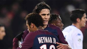 Neymar habló de su relación con Cavani