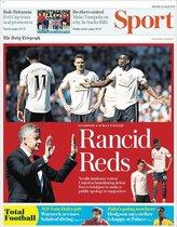 Portada de Telegraph Sport del 22 de abril