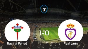 El Racing Ferrol, a un paso del ascenso a Segunda División B tras su victoria frente al Real Jaén (1-0)
