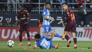 El reciente rendimiento del Málaga lo ha hecho descender múltiples plazas