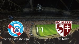 Reparto de puntos entre el Racing Estrasbrurgo y el FC Metz: 1-1