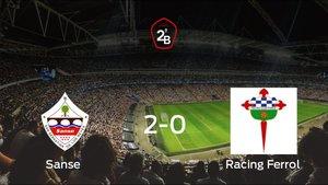 El Sanse logra los tres puntos frente al Racing Ferrol (2-0)