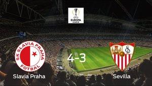 El Sevilla perdió 4-3 en la prórroga contra el Slavia Praha y se queda fuera de la Europa League