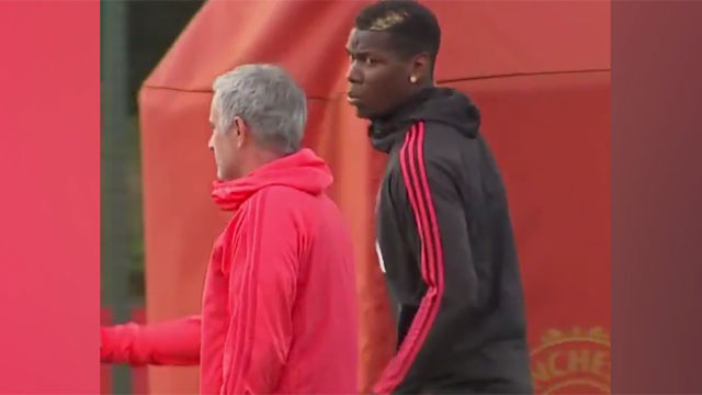 Tensión entre Mourinho y Pogba en el entrenamiento