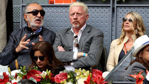 Tiriac, junto a Boris Becker, en el pasado Mutua Madrid Open