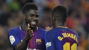 Umtiti está triunfando en el Camp Nou