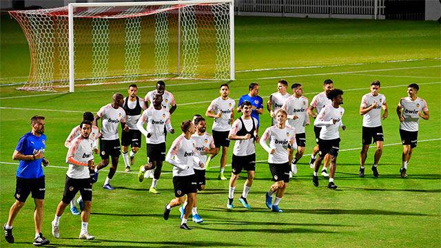 El Valencia, listo para medirse al Madrid