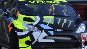 Valentino Rossi, al volante del Ford WRC