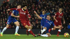 La velocidad de Salah castigó al Chelsea
